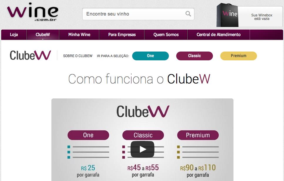 Clube W – Wine