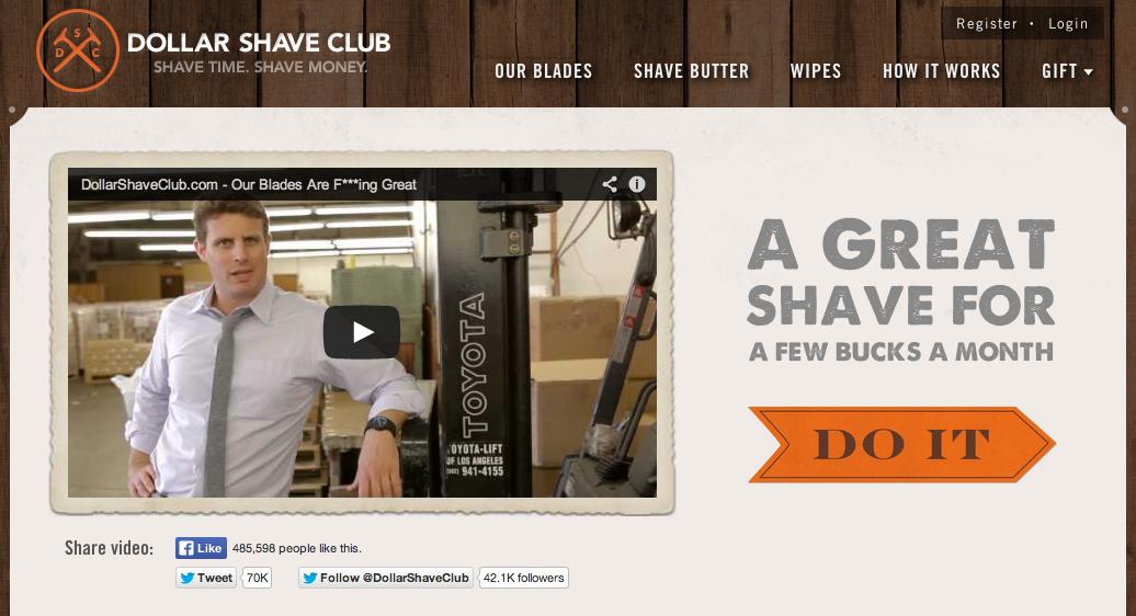 Foto: Reprodução Dollar Shave Club