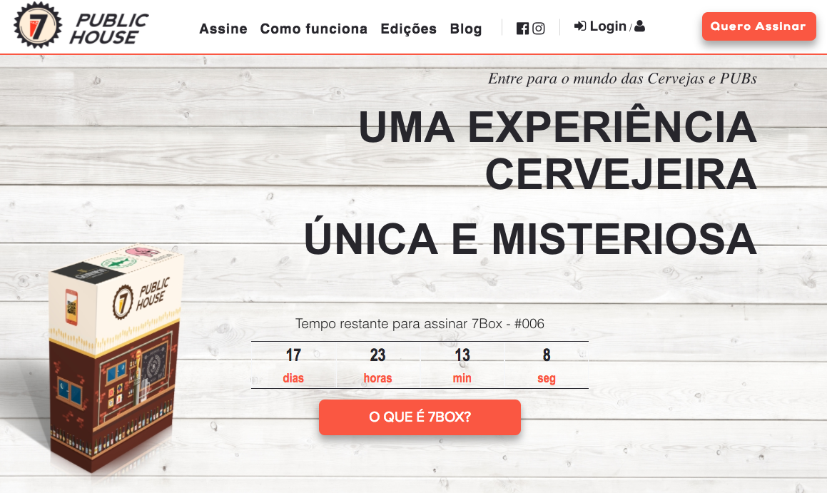 Clube assinatura de produtos cervejeiros